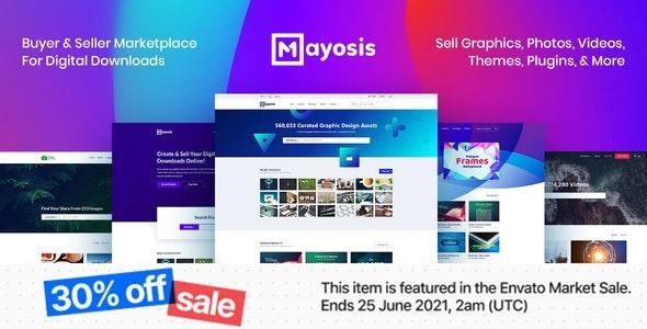 ThemeForest Mayosis - Download Digital Marketplace WordPress Theme