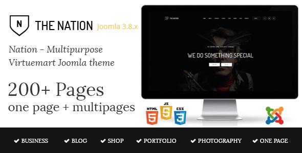 ThemeForest Nation - Download Multipurpose Virtuemart Joomla Template