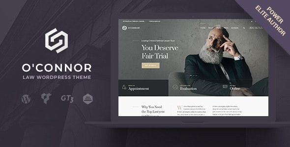 ThemeForest Oconnor - Download Lawyers Attorneys and Law Firm WordPress Theme