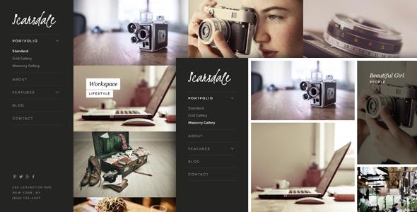 ThemeForest Scarsdale - Download Premium Portfolio & Photography Joomla Template