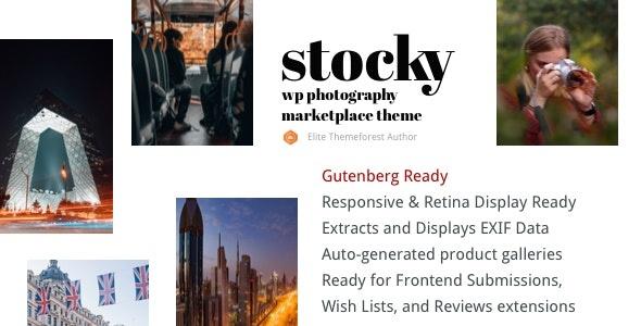 ThemeForest Stocky - Download A Stock Photography Marketplace WordPress Theme