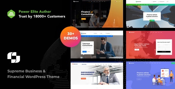 ThemeForest Businext - Download Supreme Businesses and Financial Institutions WordPress Theme