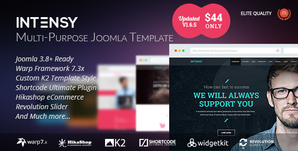 ThemeForest Intensy - Download Multipurpose Joomla Template