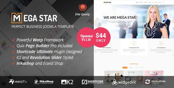 ThemeForest Megastar - Download Business Joomla Template