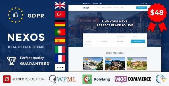 ThemeForest Nexos - Download Real Estate Agency Directory WordPress Theme
