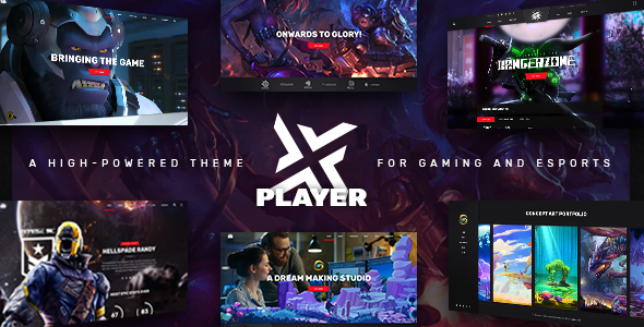 ThemeForest PlayerX - Download A High-powered WordPress Theme for Gaming and eSports