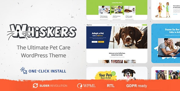 ThemeForest Whiskers - Download Pets Store | Vet Clinic | Animal Adoption WordPress Theme