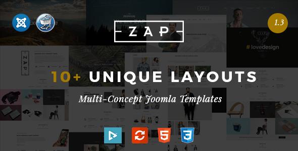 ThemeForest Zap - Download Multipurpose Responsive Virtuemart Joomla Template