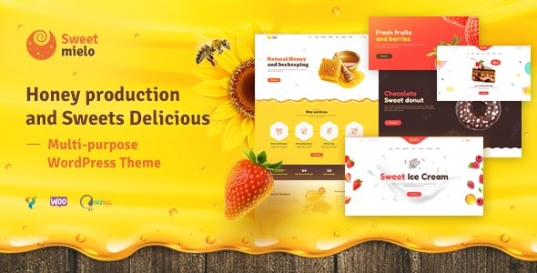 ThemeForest Sweet Mielo - Download Honey Production, Beekeeping and Sweets Delicious WordPress Theme