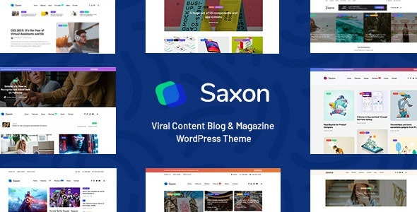 ThemeForest Saxon - Download Viral Content Blog and Magazine WordPress Theme