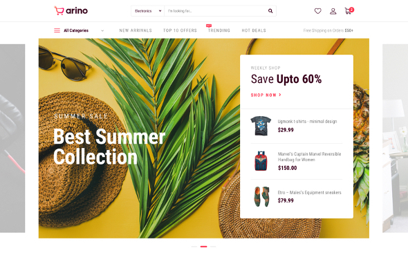 JoomShaper Arino - Download Joomla eCommerce Template for Online Stores and Shops