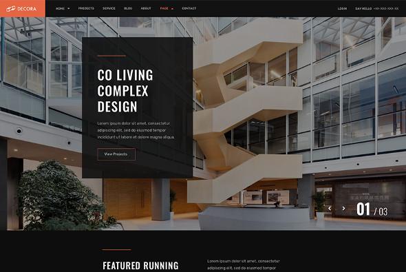 JoomShaper Decora - Download Architecture and Interior Design Joomla Template
