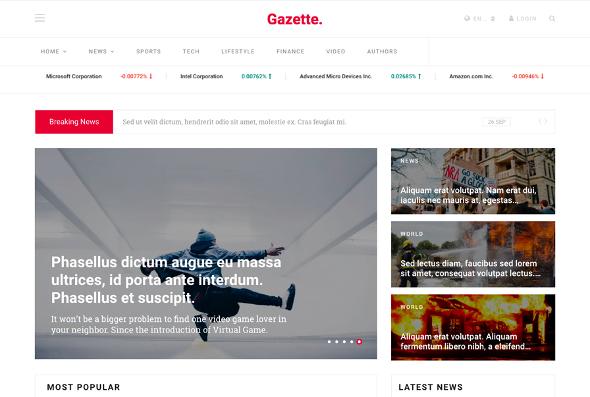 JoomShaper Gazette - Download News, Magazine and Blog Joomla Template