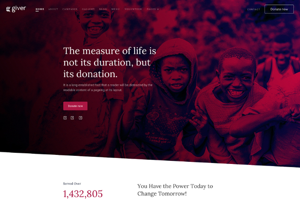 JoomShaper Giver - Download Donation and Non-profit Charity Joomla Template