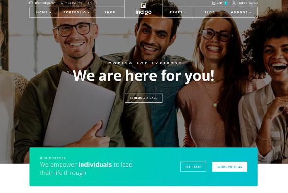 JoomShaper Indigo - Download Multipurpose Business Joomla Template