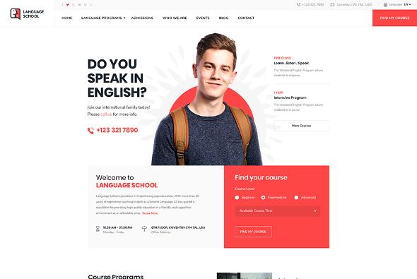 JoomShaper Language School - Download Language Institute and Coaching Joomla Template