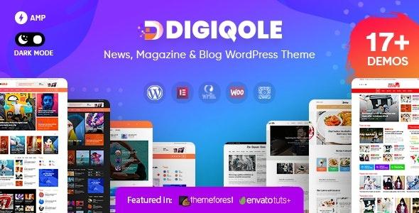 ThemeForest Digiqole - Download News Magazine WordPress Theme