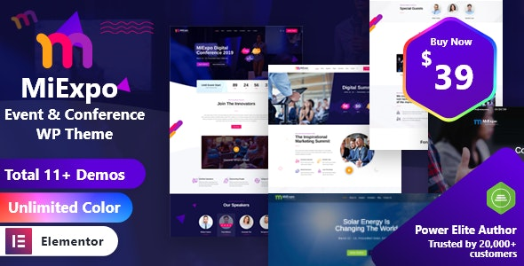 ThemeForest MiExpo - Download Event Conference WordPress Theme