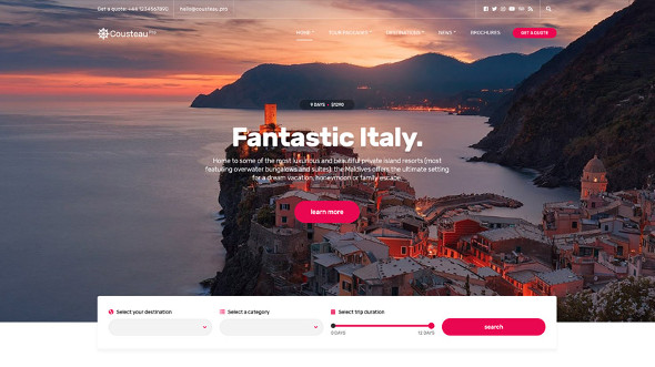 CssIgniter Cousteau Pro - Download Travel Theme for WordPress