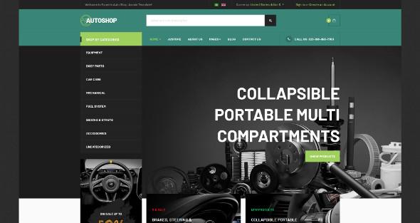 JA Autoshop - Download eCommerce Joomla Template