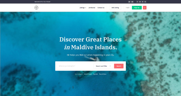 JA City Guide - Download Travel and Tour Guide Joomla Template
