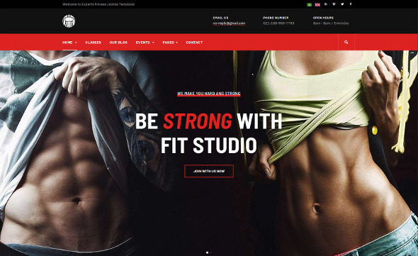 JA Fit - Download Gym and Fitness Template for Joomla
