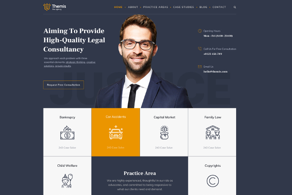 JoomShaper Themis - Download Law Firm Template for Joomla
