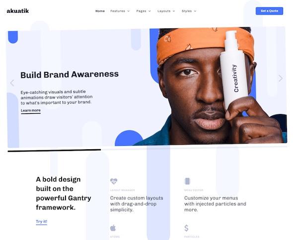 RocketTheme Akuatik - Download Agency Template for Joomla