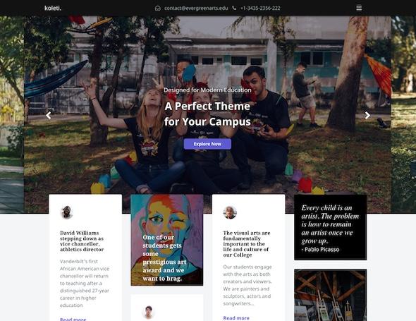 RocketTheme Koleti - Download Education Joomla Template