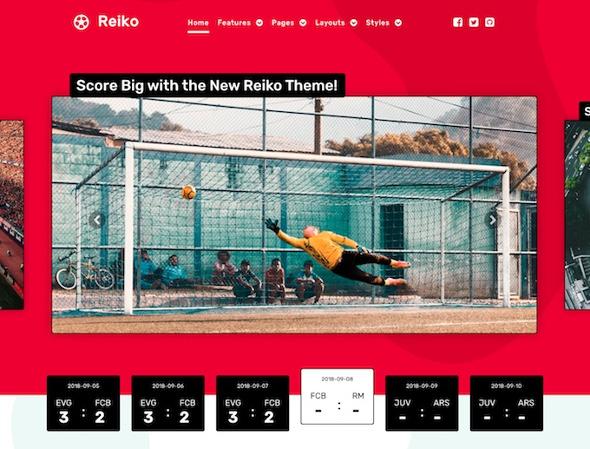 RocketTheme Reiko - Download Sports Template for Joomla