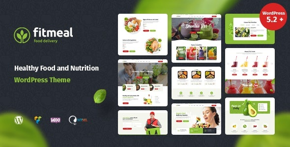ThemeForest Fitmeal - Download Organic Food Delivery WordPress Theme