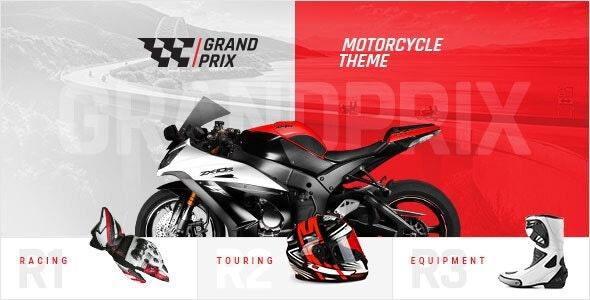 ThemeForest GrandPrix - Download Motorcycle WordPress Theme