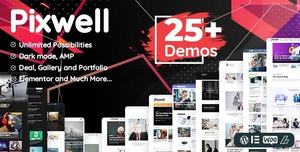 ThemeForest Pixwell - Download Magazine WordPress Theme