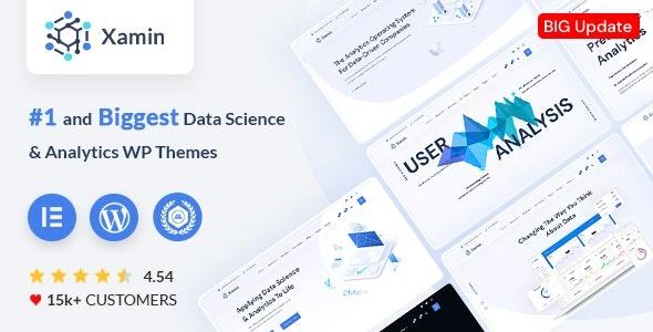 ThemeForest Xamin - Download Data Science and Analytics WordPress Theme