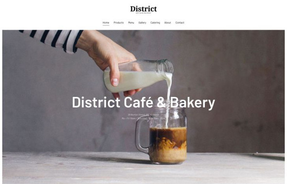 YooTheme Pro District - Download Food and Drink Joomla Template