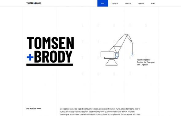 YooTheme Pro Tomsen Brody - Download Logistics Template for Joomla