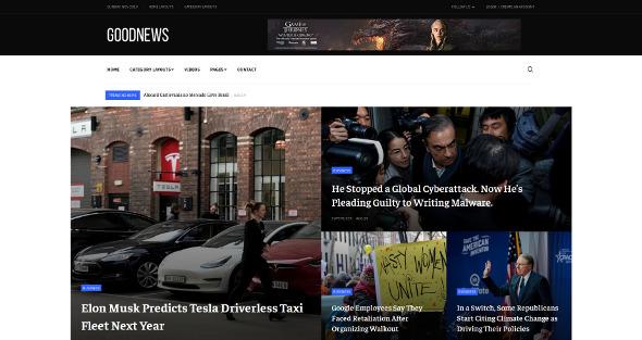 JA Good - Download News and Magazine Joomla Template