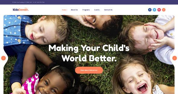 JA Kids Corner - Download Kindergarten Template for Joomla