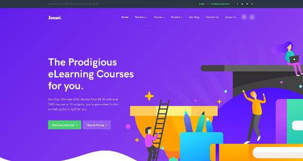 JA Sensei - Download LMS Education Joomla Template
