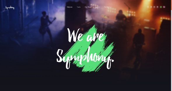 JA Symphony - Download Music and Band Template for Joomla