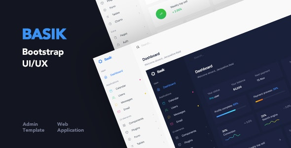 ThemeForest Basik - Download Web Application and Admin HTML Template