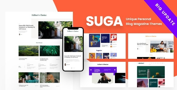 ThemeForest Suga - Download Magazine and Blog WordPress Theme
