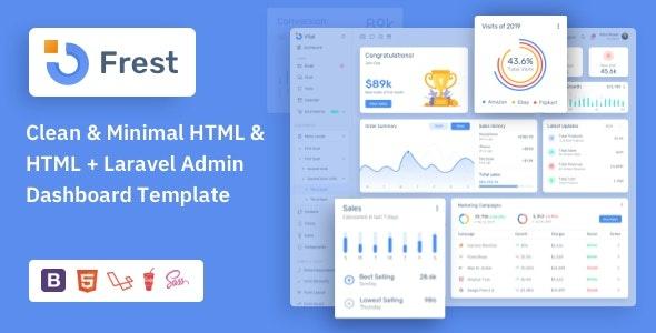 ThemeForest Frest - Download Admin Dashboard HTML Template