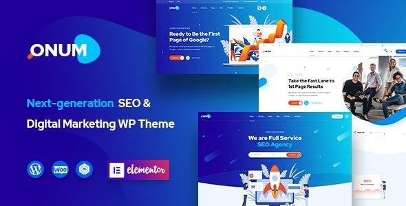 ThemeForest Onum - Download SEO and Marketing WordPress Theme