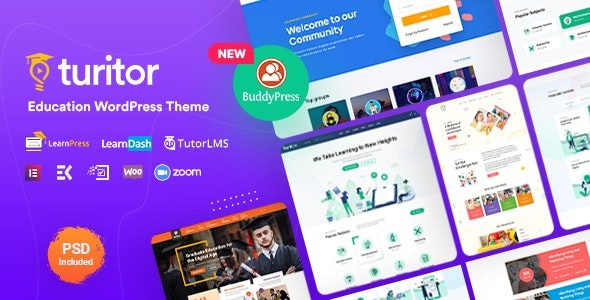 ThemeForest Turitor - Download Education WordPress Theme