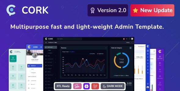 ThemeForest Cork - Download Responsive Admin Dashboard Template