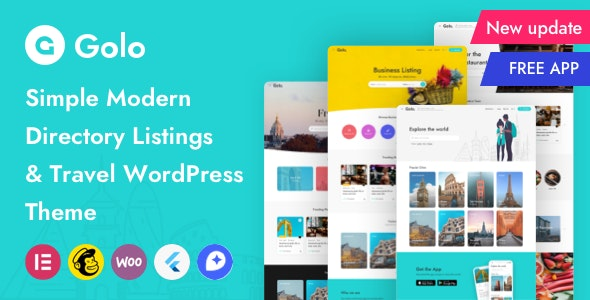 ThemeForest Golo - Download City Guide WordPress Theme