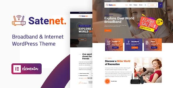 ThemeForest Satenet - Download Broadband and Internet WordPress Theme