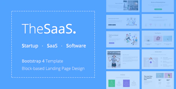 ThemeForest TheSaaS - Download Bootstrap SaaS, Startup and WebApp HTML Template