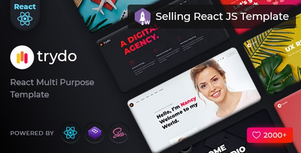 ThemeForest Trydo - Download React Creative Agency and Portfolio Template